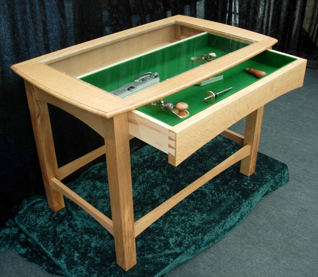 Mark tamcken oak and maple display table for Html display table